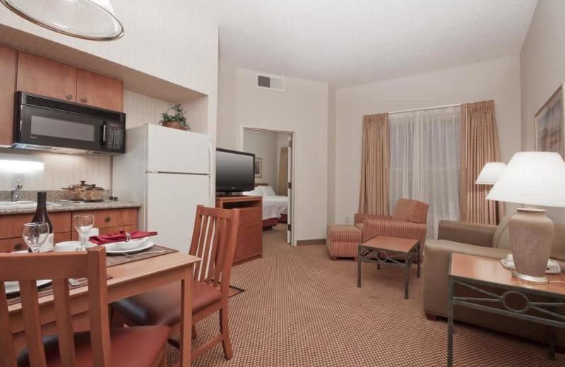 Guest room at Homewood Suites Phoenix - Chandler.