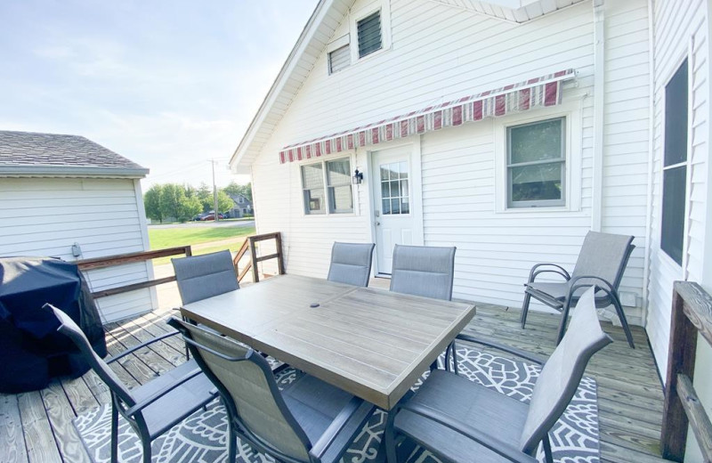 Rental deck at Jersey Cape Realty.
