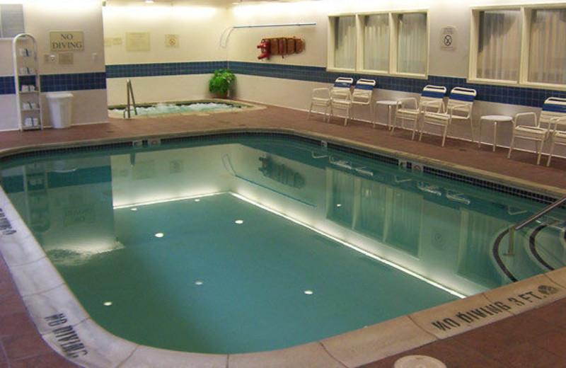 Indoor pool at Fairfield Inn & Suites Detroit Farmington Hills.