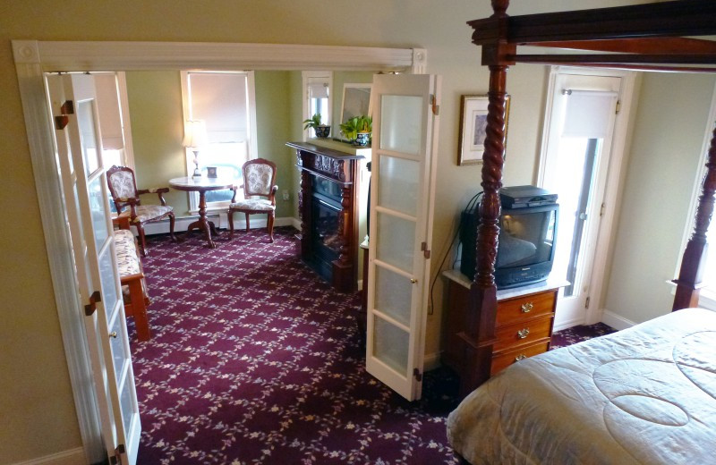 Guest room at Laingdon Hotel.