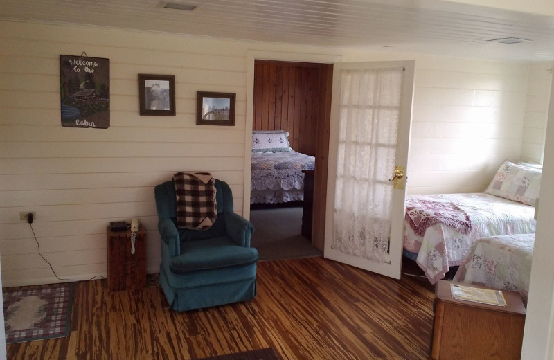 Guest bedroom at MLY Ranch.
