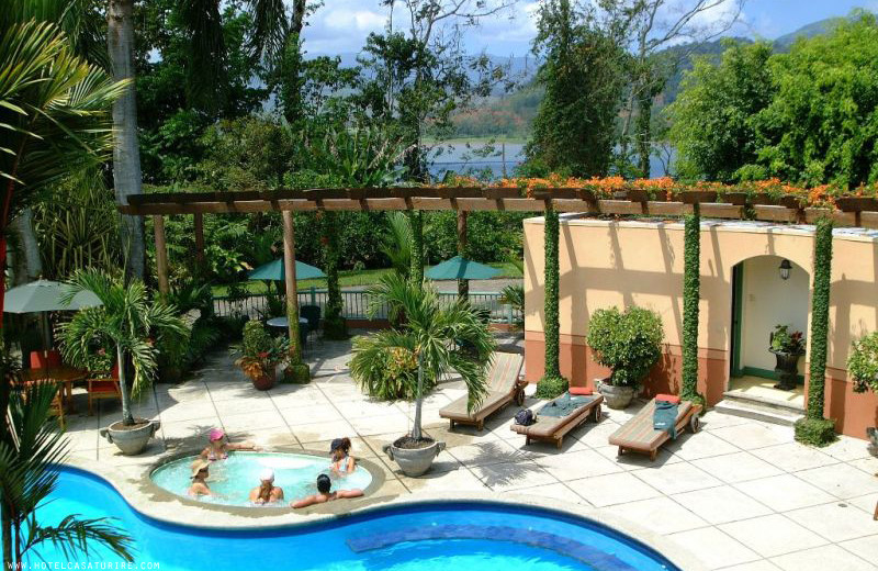 Outdoor pool at Casa Turire.