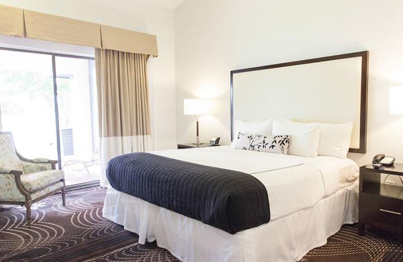 Guest room at La Torretta Lake Resort & Spa.