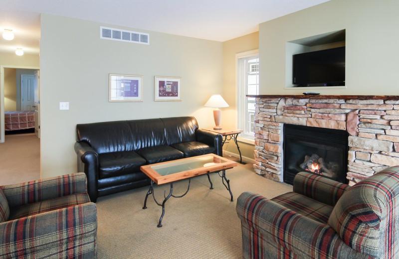 Guest living room at Hawk's Eye Golf Resort.