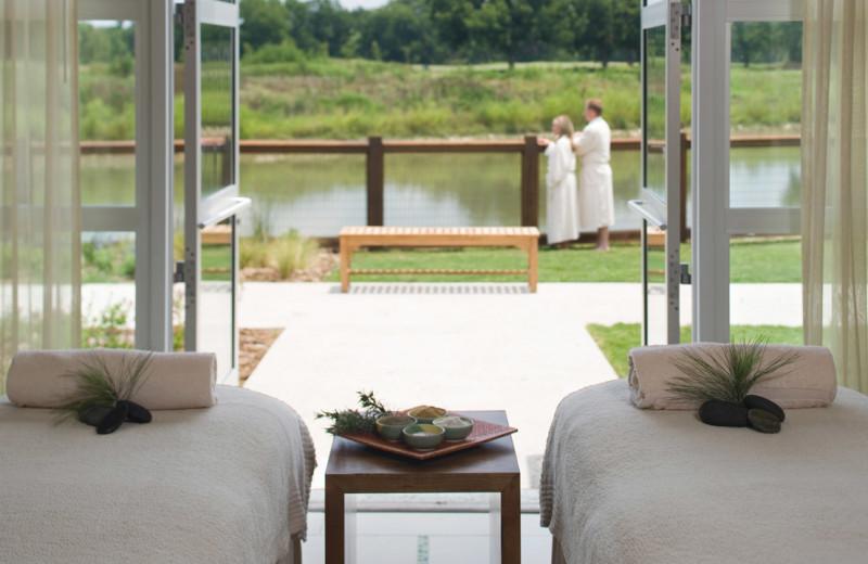 Massage tables at Hyatt Regency Lost Pines Resort and Spa.
