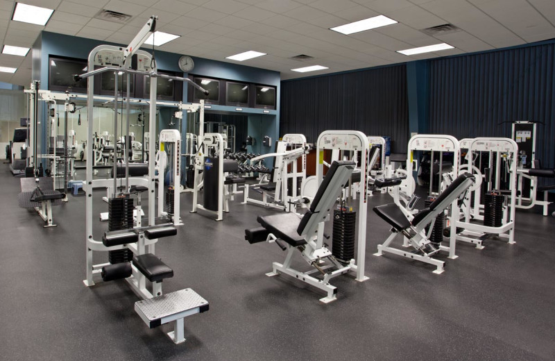 Fitness center at Grand Geneva Resort.