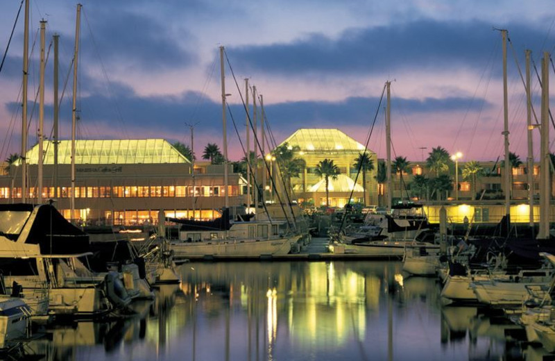 Exterior view of The Portofino Hotel & Yacht Club.