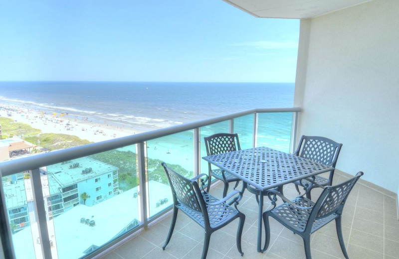 Rental balcony view at CondoLux Vacation Rentals.