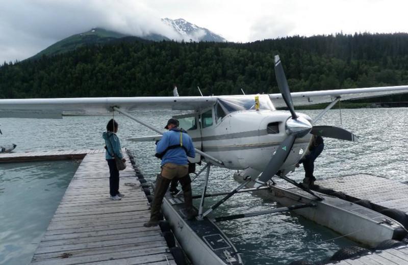 Sea plane at Trail Lake Lodge.