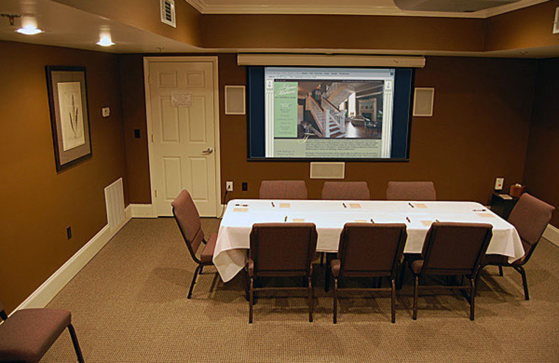 Meeting room at James Madison Inn.