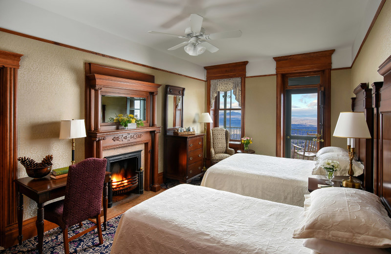 Guest room at Mohonk Mountain House.