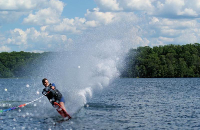 Water skiing at Kavanaugh's Sylvan Lake Resort.
