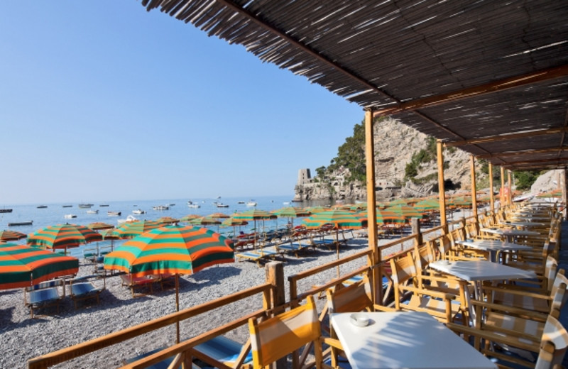The beach at Hotel Vittoria.