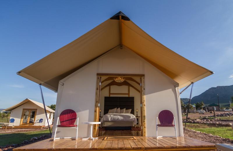 Tent at Royal Gorge Cabins.