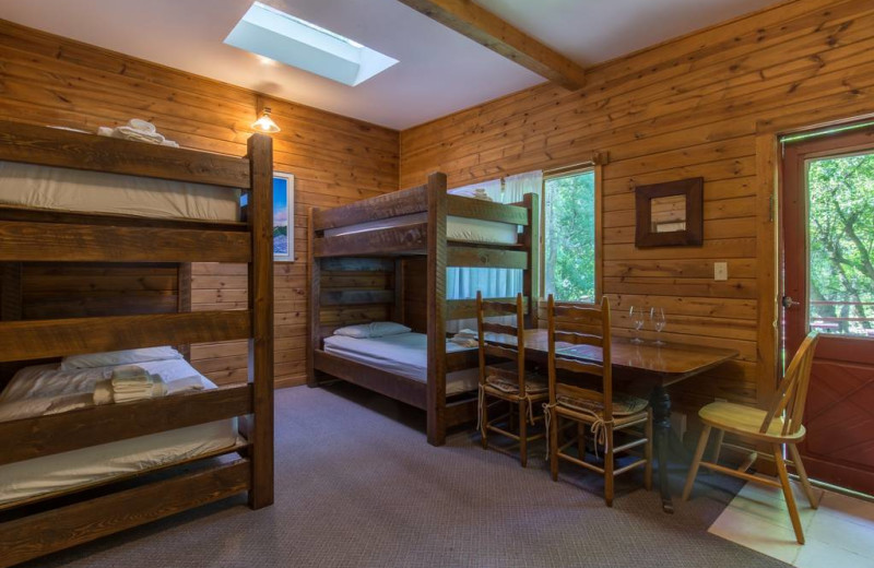 Guest room at Boulder Adventure Lodge.