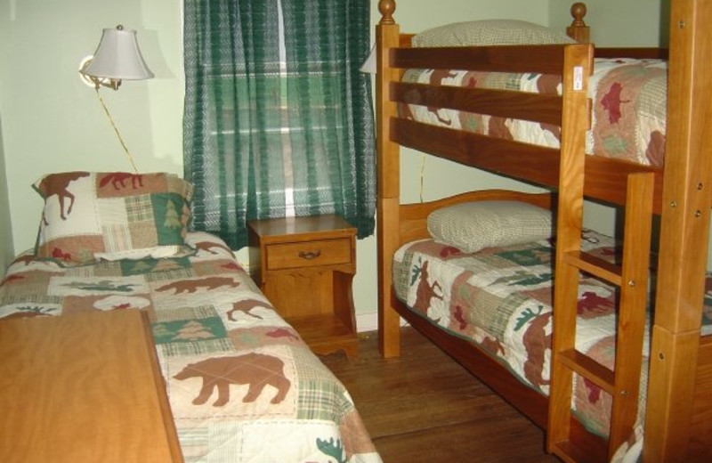 Guest bedroom at Tea Island Resort.