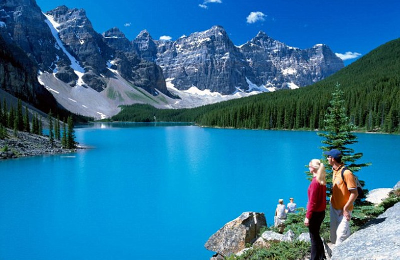 Banff National Park near Johnston Canyon Resort.