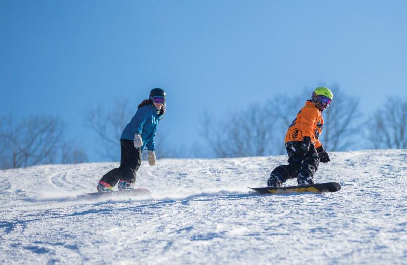 Snowboarding at Mountain Creek Resort.