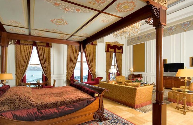 Guest room at Ciragan Palace Hotel.