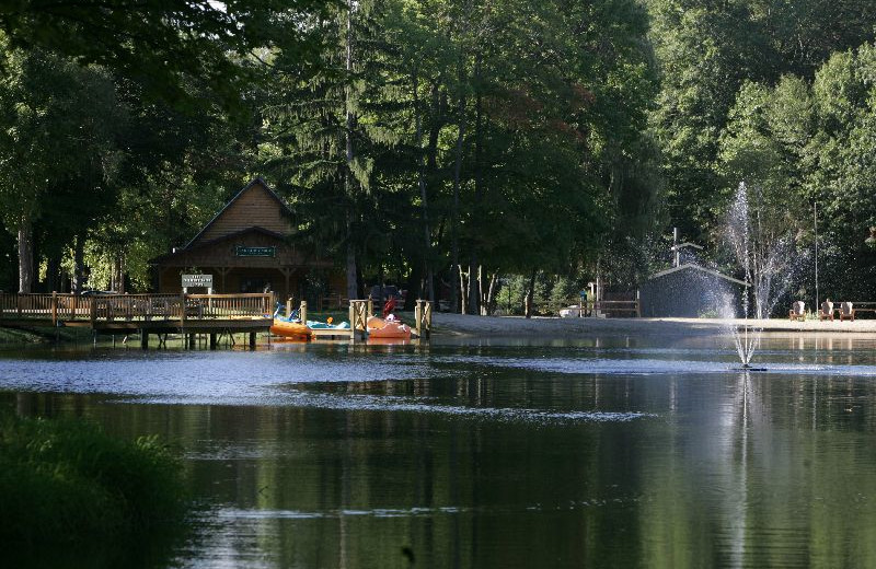 Lake at Lakeside Cabins Resort.