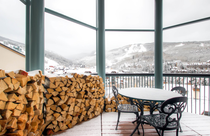 Rental balcony at Centennial Lodge of Beaver Creek.