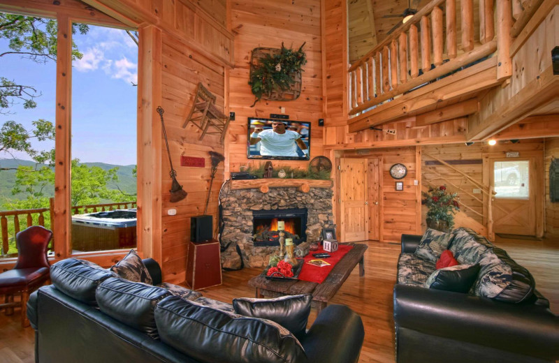 Rental living room at American Mountain Rentals.