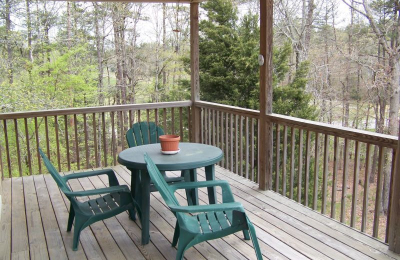 Rental deck at Village Villas Vacation Rentals.