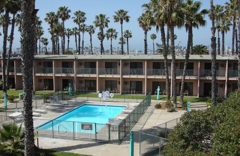 Outdoor pool at Seaport Marina Hotel.