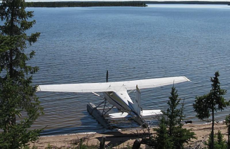 Plane at Camp Grayling.