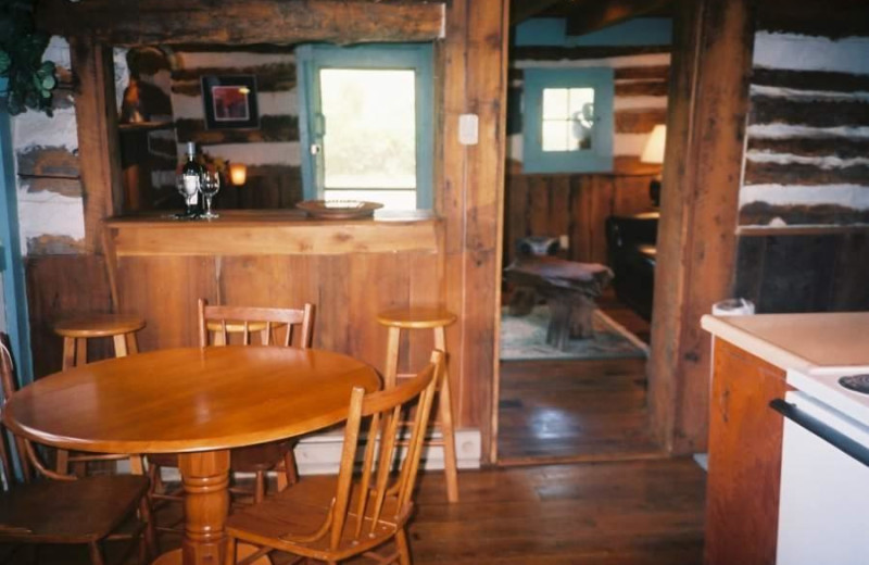 Cabin Interior at South River Highlands Retreat