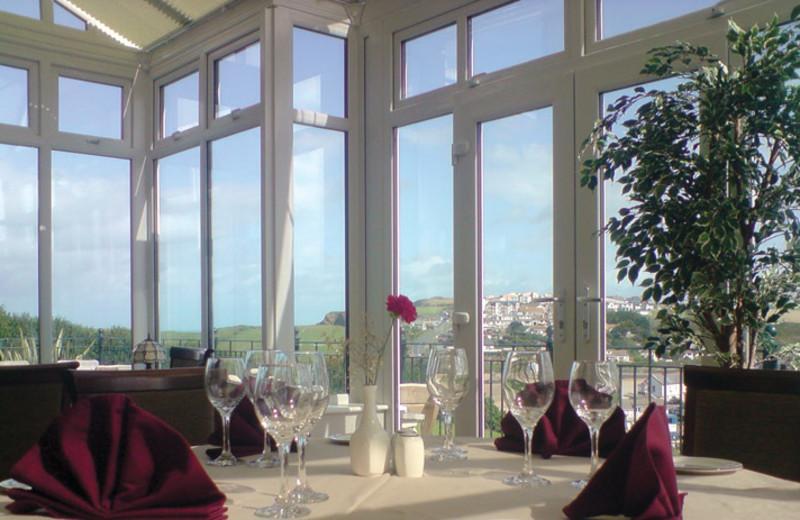 Dining at Porth Veor Manor.