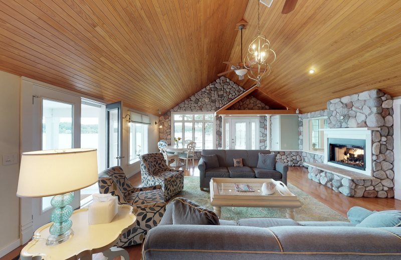 Living room at BoatHouse Villa.