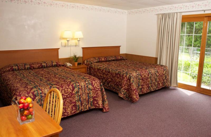 Guest bedroom at Ephraim Shores Resort and Restaurant.