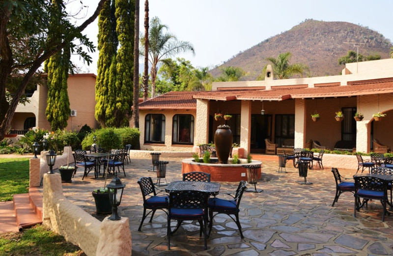 Patio at Malaga Conference and Holiday Resort.