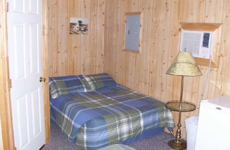 Cabin interior at Lake Fork Ranch Resort.