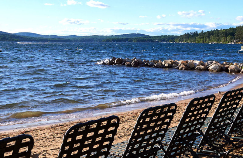 Beach at The Margate on Winnipesaukee.
