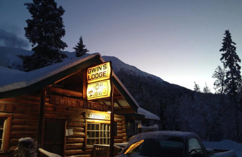 Lodge exterior at Gwin's Lodge & Kenai Peninsula Charter Booking Service.