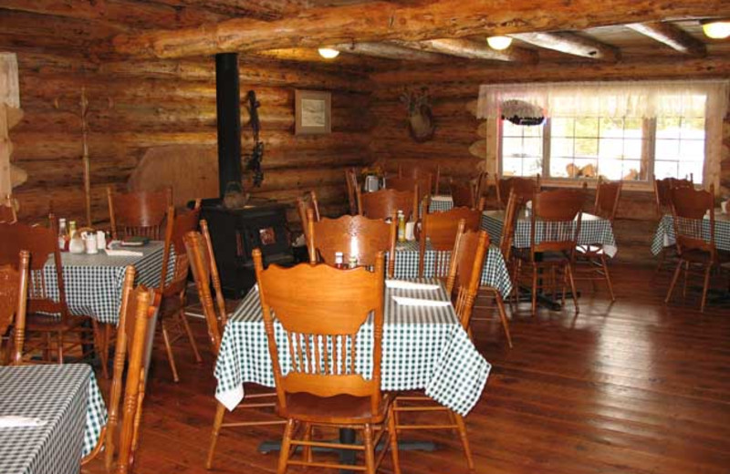 Dining area at Silver Spur Outfitters.