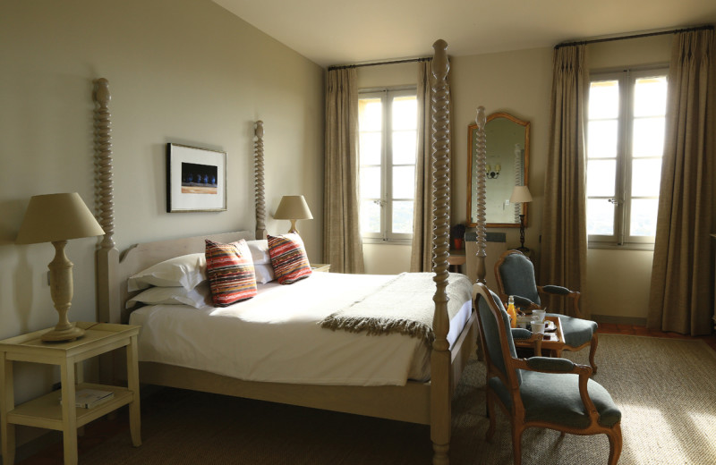 Guest room at Hostellerie de Crillon le Brave.
