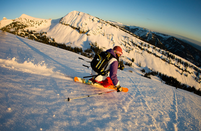 Skiing at Grand Targhee Resort.