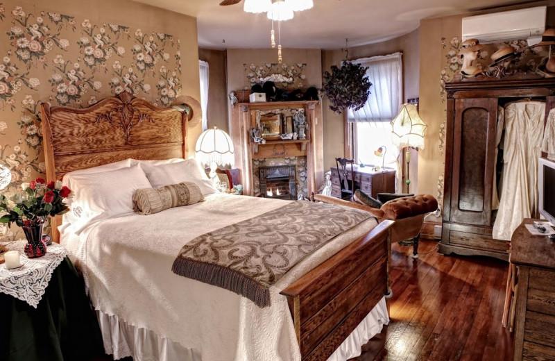 Guest room at Queen-A Victorian B & B.