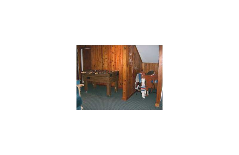 Rental living room at Loch Lone Star on Lake LBJ.