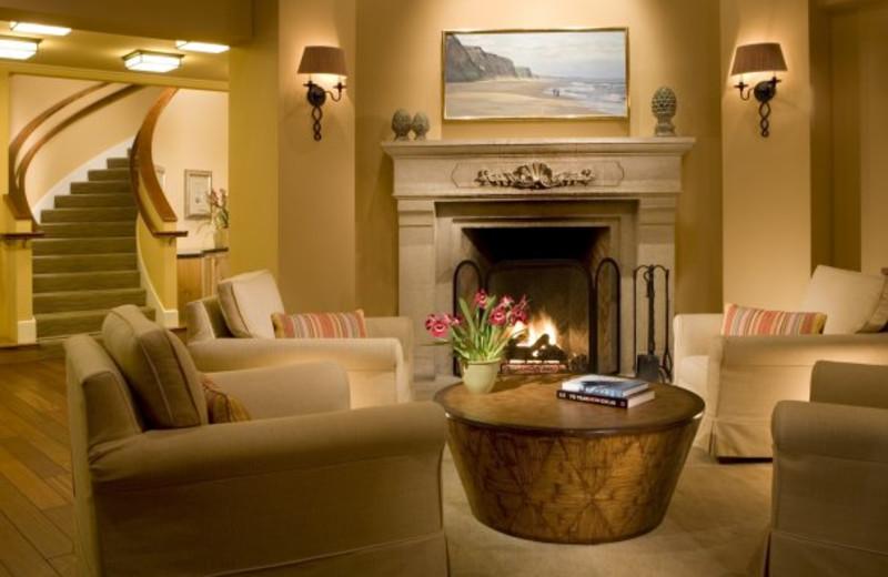 Lobby view at Beach House Half Moon Bay.