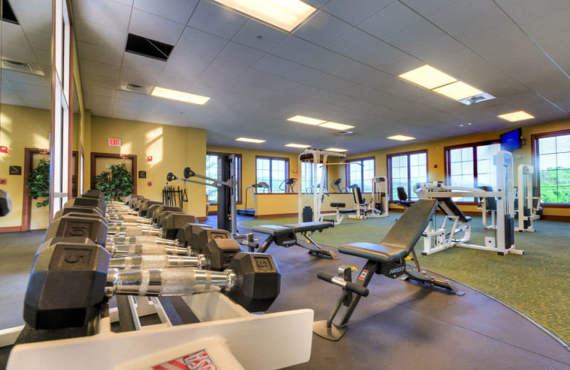 Gym at RiverStone Resort & Spa.