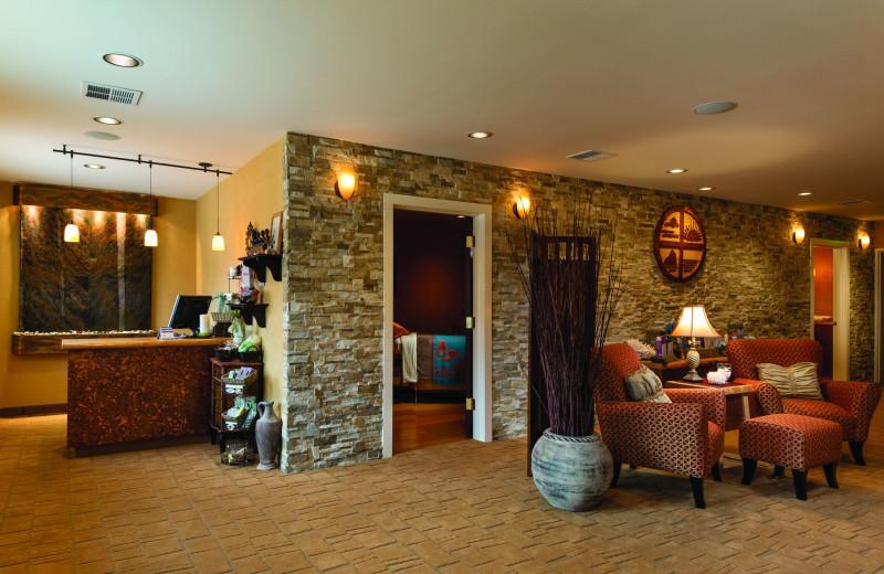 Lobby at Hallmark Resort & Spa Cannon Beach.