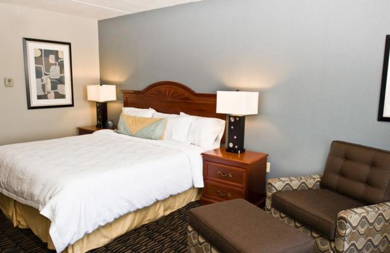 Guest room at Hilton Garden Inn Austin.