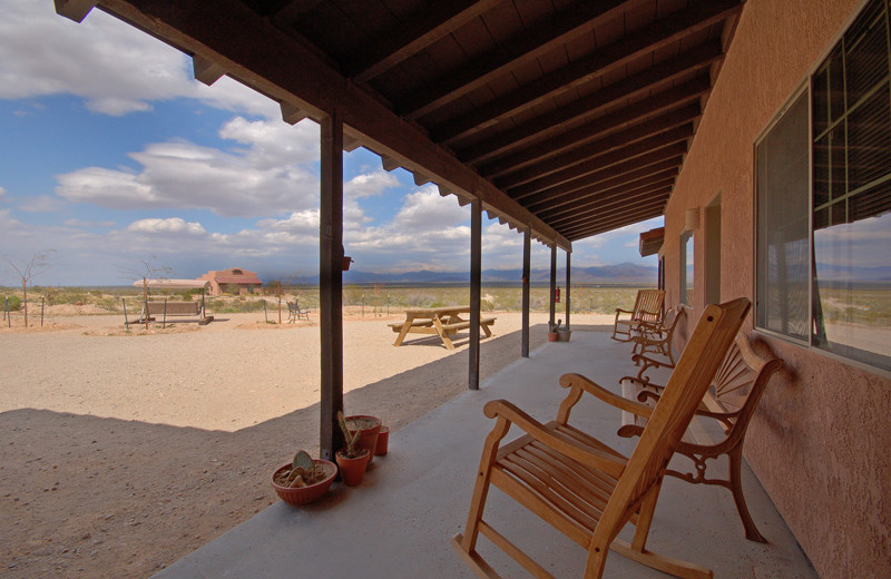 Porch view at Stagecoach Trails Guest Ranch.