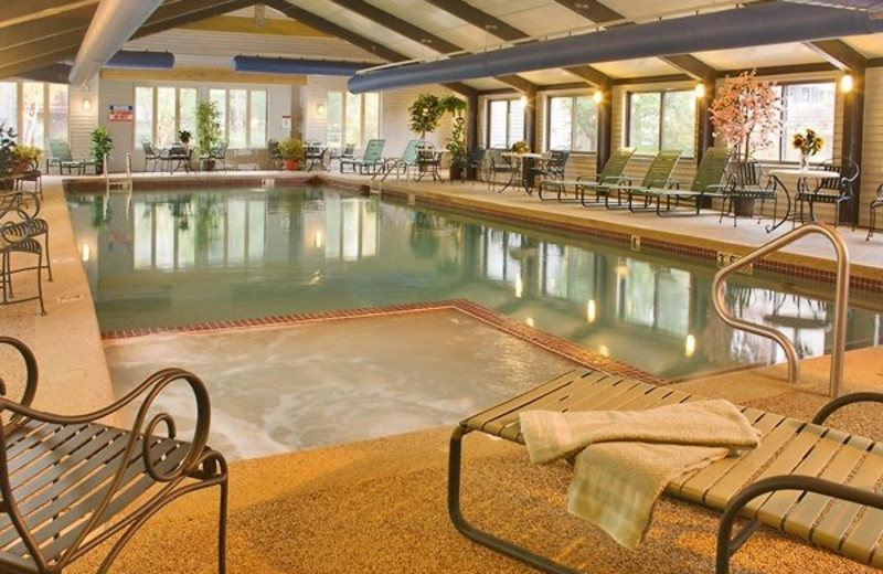 Attitash Mountain Village indoor pool at North Conway Lodging.