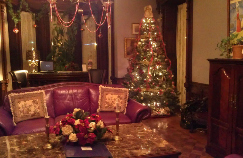 Christmas time at Batcheller Mansion Inn Bed and Breakfast.