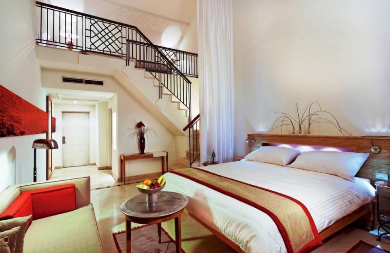 Guest room at Mövenpick El Gouna Resort.
